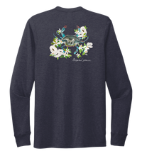 Load image into Gallery viewer, Alexandra Catherine, Blue Crab, Unisex Crew Neck Long Sleeve T-shirt in Deep Sea Blue
