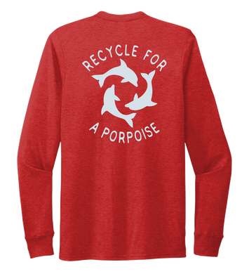 StepChange, Porpoise, Unisex Crew Neck Long Sleeve T-shirt in Bravo Red