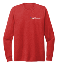 Load image into Gallery viewer, StepChange Unisex Crew Neck Long Sleeve T-shirt in Bravo Red