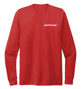StepChange Unisex Crew Neck Long Sleeve T-shirt in Bravo Red