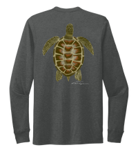 Load image into Gallery viewer, Colin Thompson, Turtle, Crew Neck Long Sleeve T-Shirt in Slate Black
