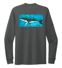 Load image into Gallery viewer, Ronnie Reasonover, The Whale, Crew Neck Long Sleeve T-Shirt in Slate Black