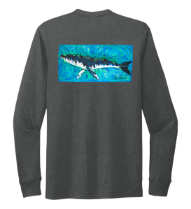 Ronnie Reasonover, The Whale, Crew Neck Long Sleeve T-Shirt in Slate Black