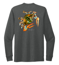 Load image into Gallery viewer, Ronnie Reasonover, The Crab, Crew Neck Long Sleeve T-Shirt in Slate Black