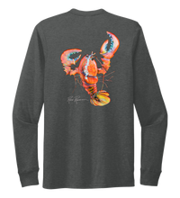Load image into Gallery viewer, Ronnie Reasonover, The Lobster, Crew Neck Long Sleeve T-Shirt in Slate Black
