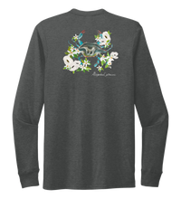 Load image into Gallery viewer, Alexandra Catherine, Blue Crab, Unisex Crew Neck Long Sleeve T-shirt in Slate Black