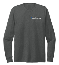 Load image into Gallery viewer, StepChange Unisex Crew Neck Long Sleeve T-shirt Slate Black