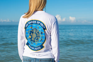 FORCE BLUE 100 YARDS OF HOPE Shirt in Marine White