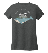 Load image into Gallery viewer, STYNGVI, No Water-No Life-No Blue-No Green, Women's V-neck T-shirt in Slate Black