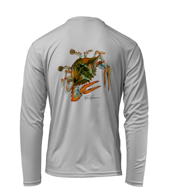 Ronnie Reasonover, The Crab, Performance Long Sleeve Shirt in Pearl Grey