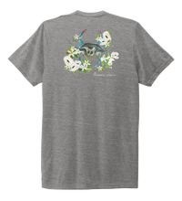Load image into Gallery viewer, Alexandra Catherine, Blue Crab, Unisex Crew Neck T-shirt in Oyster Grey