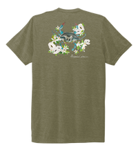 Load image into Gallery viewer, Alexandra Catherine, Blue Crab, Unisex Crew Neck T-shirt in Earthy Green