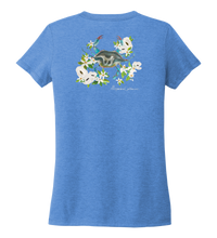 Load image into Gallery viewer, Alexandra Catherine, Blue Crab, Women's V-neck T-shirt in Sky Blue