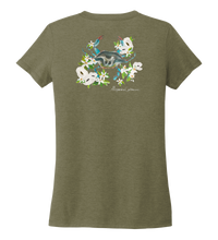 Load image into Gallery viewer, Alexandra Catherine, Blue Crab, Women's V-neck T-shirt in Earthy Green