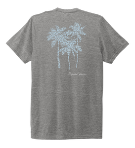 Alexandra Catherine, Palm Trees, Unisex Crew Neck T-shirt in Oyster Grey