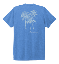 Load image into Gallery viewer, Alexandra Catherine, Palm Trees, Unisex Crew Neck T-shirt in Sky Blue