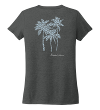 Load image into Gallery viewer, Alexandra Catherine, Palm Trees, Women's V-neck T-shirt in Slate Black