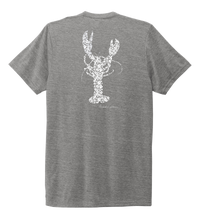 Load image into Gallery viewer, Alexandra Catherine, Fleur White Lobster, Unisex Crew Neck T-shirt in Oyster Grey