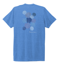 Load image into Gallery viewer, Alexandra Catherine, Tossed Seashells, Unisex Crew Neck T-shirt in Sky Blue