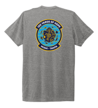 Load image into Gallery viewer, FORCE BLUE 100 YARDS OF HOPE Unisex Crew Neck T-shirt in Oyster Grey