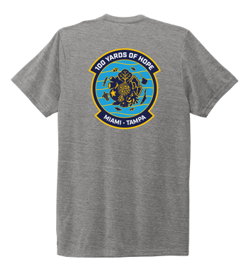 FORCE BLUE 100 YARDS OF HOPE Unisex Crew Neck T-shirt in Oyster Grey