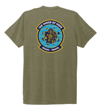 Load image into Gallery viewer, FORCE BLUE 100 YARDS OF HOPE Unisex Crew Neck T-shirt in Earthy Green
