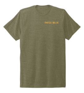 FORCE BLUE 100 YARDS OF HOPE Unisex Crew Neck T-shirt in Earthy Green
