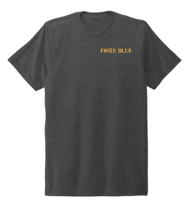 FORCE BLUE 100 YARDS OF HOPE Unisex Crew Neck T-shirt in Slate Black