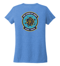 Load image into Gallery viewer, FORCE BLUE 100 YARDS OF HOPE Women's V-neck T-shirt in Sky Blue