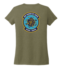 Load image into Gallery viewer, FORCE BLUE 100 YARDS OF HOPE Women's V-neck T-shirt in Earthy Green