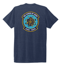 Load image into Gallery viewer, FORCE BLUE 100 YARDS OF HOPE Unisex Crew Neck T-shirt in Deep Sea Blue