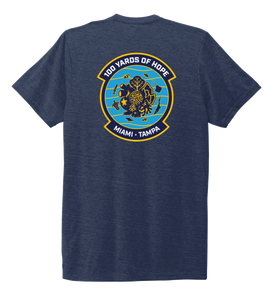 FORCE BLUE 100 YARDS OF HOPE Unisex Crew Neck T-shirt in Deep Sea Blue