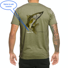 Load image into Gallery viewer, Colin Thompson, Snook, Crew Neck T-Shirt in Earthy Green