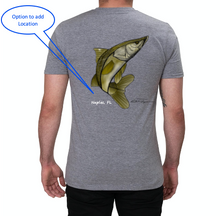 Load image into Gallery viewer, Artist Collection: Colin Thompson, Snook, Crew Neck T-Shirt in Oyster Grey