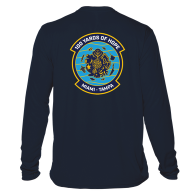 FORCE BLUE 100 YARDS OF HOPE Performance Shirt in Deep Sea Blue