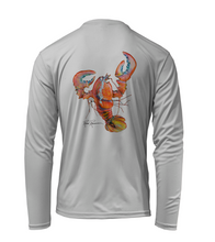 Load image into Gallery viewer, Ronnie Reasonover, The Lobster, Performance Long Sleeve Shirt in Pearl Grey