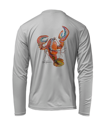 Ronnie Reasonover, The Lobster, Performance Long Sleeve Shirt in Pearl Grey
