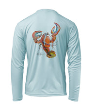 Load image into Gallery viewer, Ronnie Reasonover, The Lobster, Performance Long Sleeve Shirt in Cloud Blue