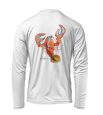 Ronnie Reasonover, The Lobster, Performance Long Sleeve Shirt in Marine White