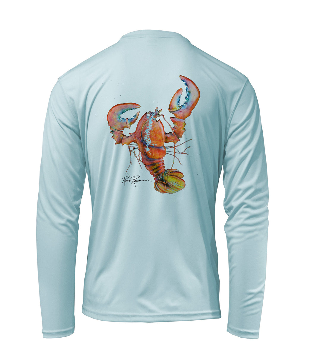 Ronnie Reasonover, The Lobster, Performance Long Sleeve Shirt in Cloud Blue