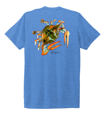 Ronnie Reasonover, The Crab, Crew Neck T-Shirt in Sky Blue