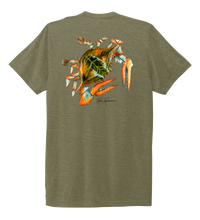 Load image into Gallery viewer, Ronnie Reasonover, The Crab, Crew Neck T-Shirt in Earthy Green