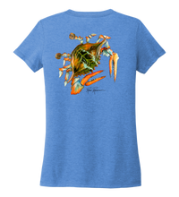 Load image into Gallery viewer, Ronnie Reasonover, The Crab, Women's V-neck T-shirt in Sky Blue