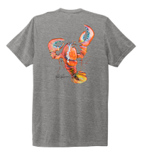Load image into Gallery viewer, Ronnie Reasonover, The Lobster, Crew Neck T-Shirt in Oyster Grey