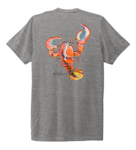 Ronnie Reasonover, The Lobster, Crew Neck T-Shirt in Oyster Grey