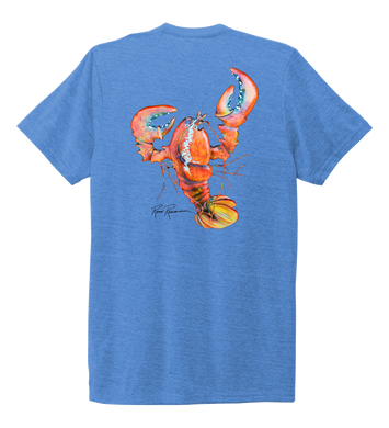 Ronnie Reasonover, The Lobster, Crew Neck T-Shirt in Sky Blue