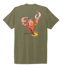 Load image into Gallery viewer, Ronnie Reasonover, The Lobster, Crew Neck T-Shirt in Earthy Green