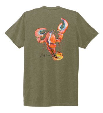 Ronnie Reasonover, The Lobster, Crew Neck T-Shirt in Earthy Green