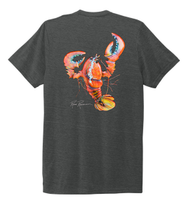 Ronnie Reasonover, The Lobster, Crew Neck T-Shirt in Slate Black