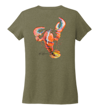 Load image into Gallery viewer, Ronnie Reasonover, The Lobster, Women's V-neck T-shirt in Earthy Green